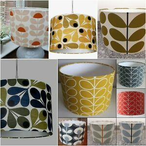 ORLA KIELY LAMPSHADE IN DANDELION GREY SEAGRASS BLUE MOSS ACORN VARIOUS SIZES