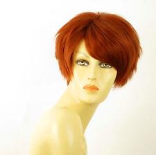 perruque femme 100% cheveux naturel courte cuivré intense ref NAOMIE 130