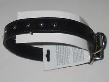 "Dog Collar Black 19"" x 1"" Adjustable Buckle Studded 5 Holes /See My Other Items!"
