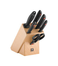 Zwilling Twin Point Messerblock Messer-Set Kochmesser natur 7-tlg.scharfe Klinge