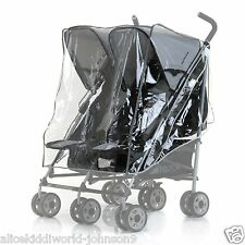 New HAUCK Raincover for Double Twin Duo Buggy Pushchair Pram Torro Turbo etc.