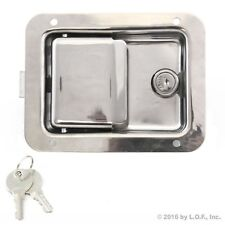 "Toolbox Lock Stainless Door Paddle Handle Trailer Rv Latch Key Large 5.5"" 4.25"""