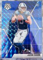 2020 Panini Mosaic Jacob Eason Blue Prizm Refractor #'d /99 RC Rookie SSP Colts