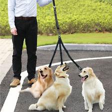 Nylon 3 Way Dog Lead&Handle Triple Splitter/Coupler Bungee Leash for Three Dogs