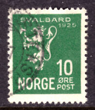 Norway #111 10o Yellow Green, 1925, F, Cds