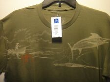 Guy Harvey Boys Shirt No Time To Spare # BTH5308 Color Olive Size Boys X-L