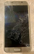 Samsung Galaxy S6 32 GB Gold Verizon. Broken Front Screen.Not Working/parts Only