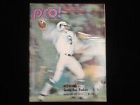 November 26, 1972 NFL Pro! WA Redskins vs. GB Packers Program/Magazine