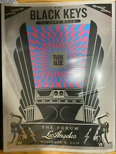 Shepard Fairey Obey Giant '14 BLACK KEYS - LOS ANGELES S/N Screen Print MINT!