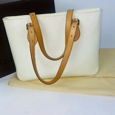 Auth LOUIS VUITTON  Monogram Vernis Patent Leather Brentwood Shoulder Tote Bag