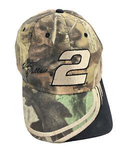 Realtree Camo Rusty Wallace Hat #2 Competitors View Snapback Cap NASCAR L