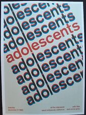 """Adolescents  & Patti Smith. 2 Sided Rock Concert Mini Poster Op Art 14""""x 10"""" R41"""