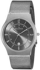 Skagen Analog Grey Dial Titanium Stainless Steel Mesh Men's Watch - 233XLTTM