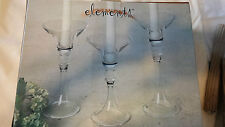 Glass trio candle taper holders