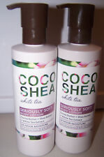 Lot of 2 Bath & Body Works Coco Shea White Tea Seriously Soft Body Lotion 7.8 oz