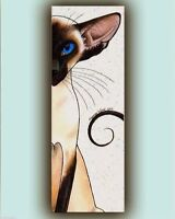 Siamese Cat art print large tall from original canvas painting Suzanne Le Good