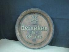 Vintage 1970's Heineken On Tap Beer Barrel Sign