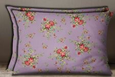S4Sassy Sofa Pillow Sham 2 Pcs Cotton Poplin Floral Print Cushion Cover