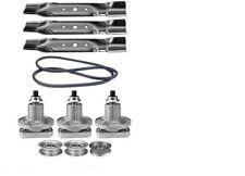 """48"""" Deck Kit Fits John Deere Belt Blades Spindles Pulleys L120 L130 Sabre (108)"""
