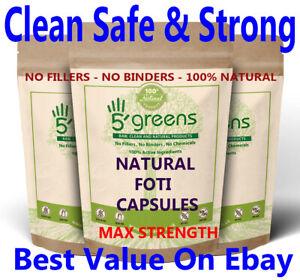 Natural Fo-ti / Foti (He Shou Wu) Capsules 12 :1 6600mg Strongest on Ebay