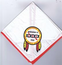Neckerchief 46th Anniversary 1961 Indiana University BLK/YEL/RED Brd 802614