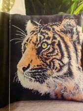 (Q) Eye Of The Tiger Cushion Cover Cross Stitch Chart