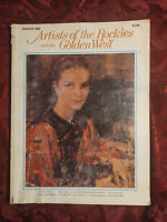 ARTISTS of ROCKIES and GOLDEN WEST Winter 1982 Hu Chi Chung Ben Stahl Ed Dwight
