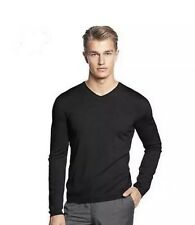 NWT CALVIN KLEIN MENS MERINO WOOL SWEATER MEDIUM BLACK