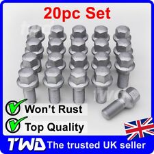 20 x ALLOY WHEEL BOLTS FOR MERCEDES BENZ C-CLASS (2007+) W204 W205 NUTS [MA50]