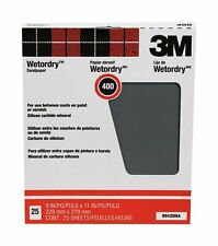 3M 99420 Pro Pack (25) Sheets 9X11 Wet Or Dry 400A Grit Sandpaper *
