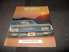 NOS 1969 CHEVROLET IMPALA SS CAPRICE BEL AIR BISCAYNE ORIGINAL SALES BROCHURE