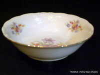"ROYAL KENT china PICTURED RKT1 PATTERN ~ Round Vegetable Bowl ~ 9"" ~ POLAND"