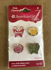 Slide Charms new American Girl doll CHILD sized butterfly Crafts bracelet 2009