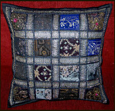 HAND CRAFTED ANTIQUE SARI DRESSES PATCHES PILLOW/CUSHION COVER FROM INDIA!!