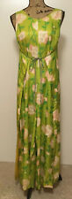 VINTAGE LEISURE LOVERS Women's Sleeveless Jumpsuit Wrap Maxi Dress ONE SIZE 1960