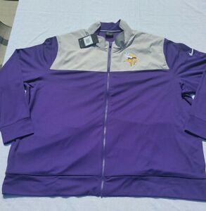 Nike Minnesota Vikings NFL Coaches Sideline Full Zip Jacket Sz 3XL NKB6-008Y