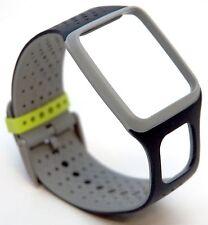 NEW TomTom Comfort Strap Slim BLACK/GREY Runner Multi-Sport GPS watch band HRM
