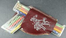 VINTAGE COWBOY PLASTIC HOLSTER GUN PENCIL & CRAYON CASE. UNUSED OLD STORE STOCK