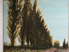 """Billy Childish """"poplar trees and moon"""" signed coverted number one fine art print"""