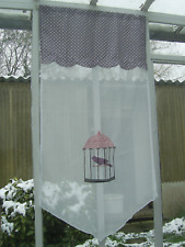panneau vitrage rideau cage oiseau   60 cm X 120 cm