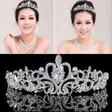 Wedding Princess Bridal Austrian Stunning Crystal Hair Tiara Crown Veil Headband