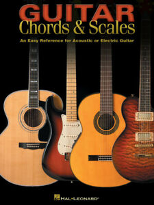 Guitar Chords & Scales Learn to Play Acoustic or Electric Music Lessons Book