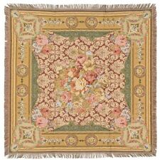 "NEW 60"" CHAMBORD BELGIAN TAPESTRY TABLE CHAIR THROW BED SPREAD 00750"