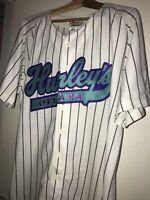 HURLEY's Restaurant Ottawa Canada Pinstripe Pro Cut Jersey Employee Baseball