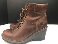 Women's Timberland Kellis Wedge Ankle Boots  Size: US:8.5 A1KDP Brown $150