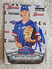 Braxton Ashcraft Signed 2017 Bowman Under Armour All-American Auto Card