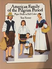 Paper Dolls American Family Of The Pilgrim Period Tom Tierney 1987 Uncut
