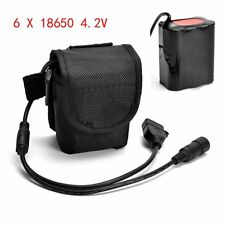 4.2V USB Rechargeable 12000mAh 6X18650 Battery Pack For Bicycle light Bike Torch