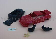 BR Voiture PORSCHE 911 1/43 Heco miniatures Chateau resine rouge interieur siege