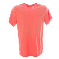 OLASUL Men's Coral Canvas Pocket Short Sleeve T-Shirt $80 NEW